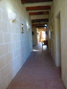 Otherside of GHANNEJ holiday villa bedrooms hallway