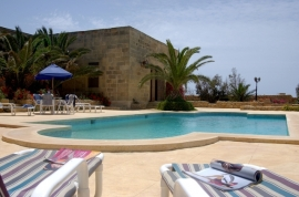 GHANNEJ holiday villa sunbathing area