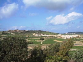 Country side view from GHANNEJ holiday villa roof terrace