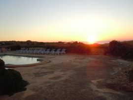 Sunset in GHANNEJ holiday villa pool area