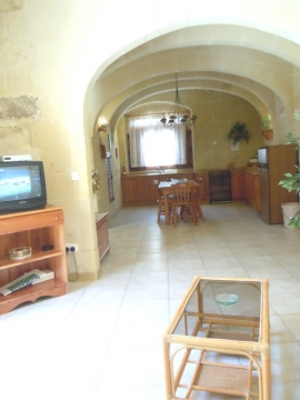 GUMMAR holiday house living area with multilingual channels on television