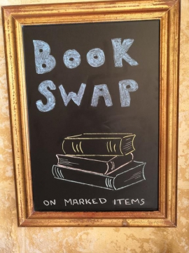 THE HONEYPOT BnB book swap available on marked items
