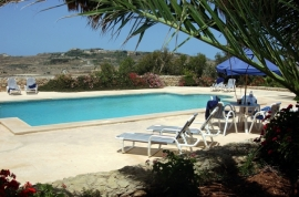GHANNEJ holiday villa swimming pool measuring 12 meters by 6 meters